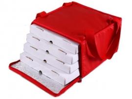 Bolso térmico para 4 cajas pizza de 33x33 con cierre