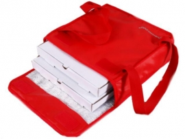 Bolso térmico para 2 cajas de pizza 33 x 33 cm. con Velcro