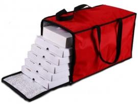 Bolso térmico para 5 cajas de pizza de metro o parrilla