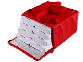 Bolso térmico para 4 cajas de pizza 41x41 con cierre y velcro