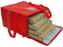 Bolso térmico para 4 cajas de pizza de 52x52 con cierre y velcro