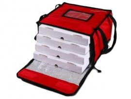 Bolso térmico para 4 cajas de pizza 33 x 33. cm. con velcro y cierre reforzado