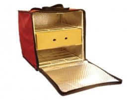 Bolso térmico con estructura para 6 cajas de pizza 33x33 o 3 tortas